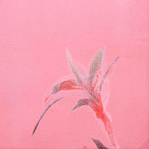 「花影抄-壱」KAEI SHO#1-Shadow of the Flower  - acrylic on canvas 412 x 325mm
